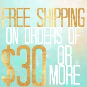 LIMITED TIME FREE SHIPPING $30 AND ABOVE